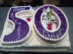 50th Birthday Cake by Abu's Bakery